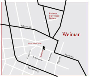Anfahrt Liszt-Apotheke, Weimar