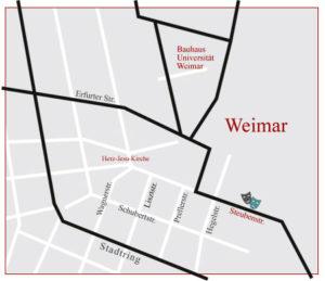 Anfahrt Neue Theater-Apotheke Weimar