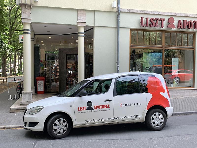 Lieferservice der Liszt-Apotheke!